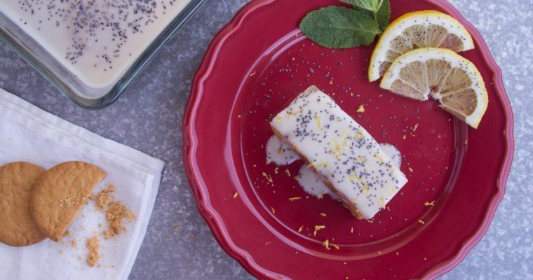 Gelatina de limão e biscoito