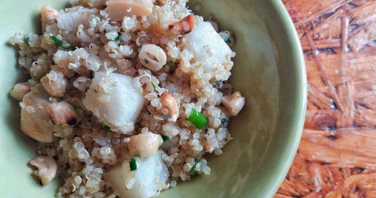 Ensalada de quinoa, nabo y poleo